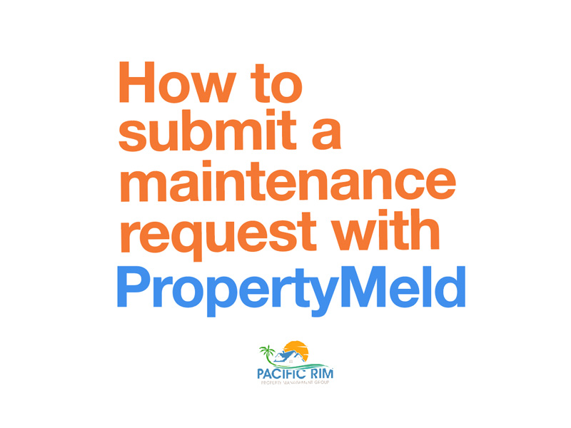 How to Submit a Maintenance Request with PropertyMeld